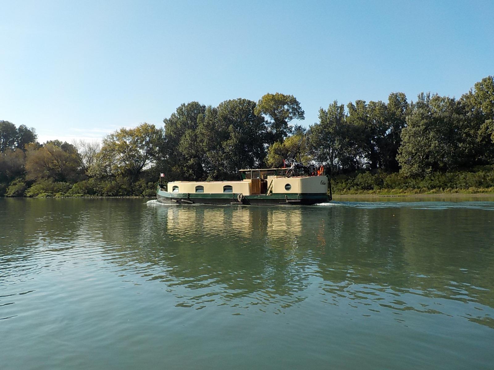 Navigation sur le fleuve Rhône